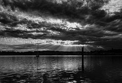 Oak Harbor Glory, Whidbey Island (tacoma290) Tags: vacation cloud sun birds nikon glory dramatic racing whidbeyisland opening rays pilings oakharbor contentedness wirw whidbeyislandraceweek oakharborglorywhidbeyisland