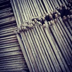 กองโครงไม้สำหรับการทำกระดาษสา