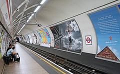 London Underground Platform (St Paul's tube) (Sony RX100 Mk2) (markdbaynham) Tags: street city uk light urban london st underground high sony low capital tube pauls iso ii mk2 metropolis m2 compact rx mark2 rx100 sonyphotographing digitaldepotcouk