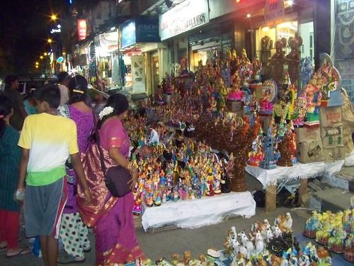 Navratri Golu Dolls Vendors at North Mada St. Mylapore Chennai 2