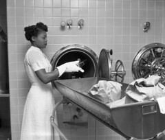 Nurse Idelle Anderson using an autoclave at the FAMU Hospital in Tallahassee, Florida