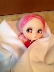 My sweet Melly girl is on her way! (Vertefae) Tags: pink alpaca lila blythe custom mellykay