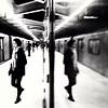 ...And what she found there. (Illusivegent) Tags: blackandwhite toronto underground subway iphonography bureboke