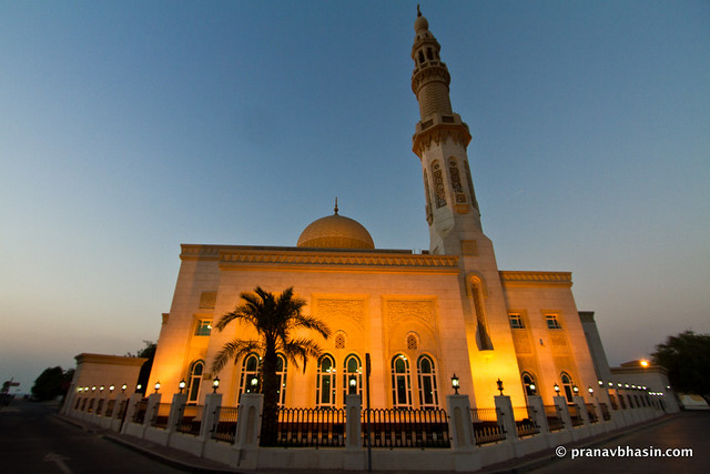 Marhaba Mosque At Sunset, Near Burj Al Arab, Dubai