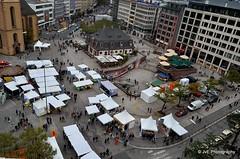 Aerial view - Frankfurt (elnina999) Tags: city skyline architecture buildings germany deutschland hessen frankfurt main citylife frankfurtammain hesse gebaude bauart germancity dermarkt nikond5100