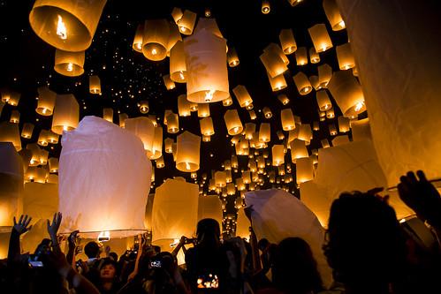 Foto Myanmar (Burma) - Tailandia e Myanmar - Yi Peng o Loy Krathong