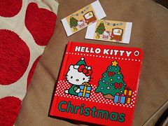Hello Kitty Christmas board book & home made stickers (Jay Tilston) Tags: hello christmas red cute book board kitty ladybird