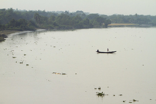 A fishing boat in the river in Khulna, Bangladesh. Photo by Felix Clay/Duckrabbit, 2013.