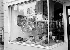 Silver Tree (catlucia) Tags: sanfrancisco vintage silver store display storefront storewindow windowdisplay windowshopping midcenturymodern sfist aluminumchristmastree modernpast