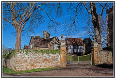 English History- Manor House and Gatehouse. Ashby St. Ledgers, England. (Bill E2011) Tags: england history northamptonshire guyfawkes parliament bates manorhouse beggars catesby gunpowderplot ashbystledgers vision:outdoor=0967 vision:sky=0643
