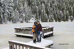 Simone & me in front of forzen lake at Mummelsee, Black Forest (indranilkishor) Tags: indranil kishor fotografie fotograf heidelberg stockimage bangladeshiphotographer fotografausbangladesch karlsruhe badenwürttemberg germany deutschland indranilkishorfotografie