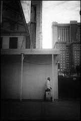 SoMA (icki) Tags: sanfrancisco california ca street blackandwhite man vertical alone october2013