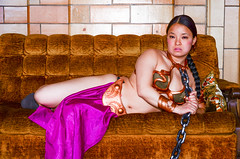 DSC_0268 (Studio5Graphics) Tags: hot sexy girl fun star starwars chains cool model nikon cosplay modeling wars cosplayer collar leia slave collared 2014