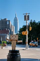 Danbo with Empire State Building (noukorama) Tags: usa newyork empirestatebuilding danbo flatirondistrict