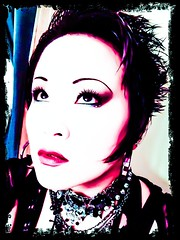 Chopped (dyingstarlite) Tags: portrait woman beautiful loss photoshop hair pain punk gothic young teen chopped makeupartist colorfilter