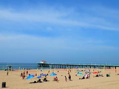 Manhattan Beach pier - Spring 2014 (Medi Irawan) Tags: california summer beach losangeles fujifilm pointandshoot manhattanbeach southbay x20 sore pocketcamera miniatureeffect