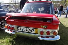 NSU TT Typ 67c (1967-1972) IG Kraichgau Nr. 54 [Foto 4] (H2O74) Tags: auto old red rot classic cars 1969 car wheel modern race speed vintage silver 1971 60s automobile ride alt stri