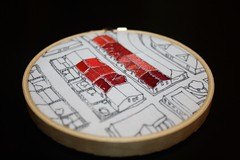 Doodle Stitch Along - City Roofs (KimStitch) Tags: fun cityscape stitch embroidery doodle hugs along handembroidery
