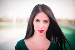 (Isai Alvarado) Tags: park street red portrait urban woman sunlight cinema blur film girl fashion hair movie 50mm model nikon focus dof arms bokeh mary profile stock longhair skirt cine lips hips cinematic d800 50mmf14g isaialvarado
