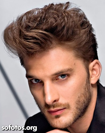 cabelo ondulado masculino