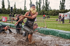 Warrior Dash 2015 (René Eriksen) Tags: summer people motion game sports water race speed copenhagen fun denmark jump jumping action fast battle running run racing dirt dash warrior athlete viking sprint danmark københavn followers onslaught valbyparken forhindringsløb warriordash mudsweatbeer
