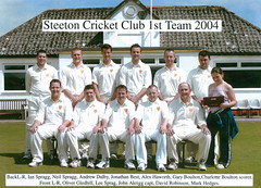 "Steeton 1st XI 2004 • <a style=""font-size:0.8em;"" href=""http://www.flickr.com/photos/47246869@N03/19770877416/"" target=""_blank"">View on Flickr</a>"