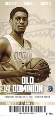 UAB vs Old Dominion (2017) (Woven Horsepower) Tags: uab old dominion basketball ticket tickets stub stubs ticketstub ticketstubs