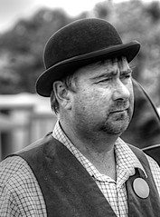 MAN in BOWLER-HAT (conespider) Tags: man male bowlerhat outdoor outside oxfordshire blackwhite blackandwhite 2016 nikon