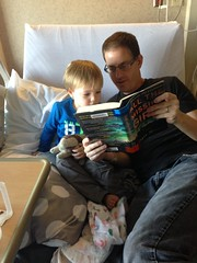 "Daddy Reads to Paul in the Hospital • <a style=""font-size:0.8em;"" href=""http://www.flickr.com/photos/109120354@N07/32298342773/"" target=""_blank"">View on Flickr</a>"