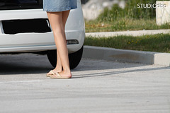 ON THE ROAD-23 (leremita) Tags: woman white walk sweat feet legs heel green wrinkles toes street fun summer sun outdoor young blue dirty size girl light silk colorfull soles long cooling sole dolls play ass barefeet barefoot hair face shapely shadow smell sandals flipflopps gloves shoes jeans black slippers nice