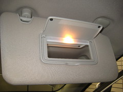 2014-2018 Nissan Rogue SUV - Sun Visor Vanity Mirror Light - Changing Burnt Out Light Bulb (paul79uf) Tags: 2014 2015 2016 2017 2018 nissan rogue suv dome light bulb overhead 2nd second generation how como hacer part number lens cover remove removal removing cambiar bombilla led upgrade