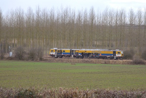 Track machine at North Anston