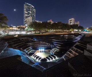 Water Gardens in Fort Worth at Night