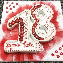 #tortadiciottesimo #red #cakedesign #pastrypassion #pasticceriapeggi #follonica #ciaopaolo #andiamoavanti