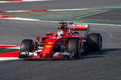 Sebastian Vettel, Ferrari SF 70H. (Luis Pérez Contreras) Tags: f1 test testing round1 circuit de catalunya barcelona montmeló olympus em1markii sport motor racing fia spain sebastianvettel ferrarisf70h