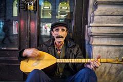 Saz... (munal4) Tags: saz music musician street night istanbul anatolia istiklal culture colour leica leicam240 zeiss rangefinder human emotion portrait