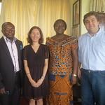 Cape Coast, Ghana, Dr. Samuel Amoa-Mensa, Dr. Julia Bello-Bravo, the Honorable Priscilla Arhin (mayor), and Professor Barry Pittendrigh
