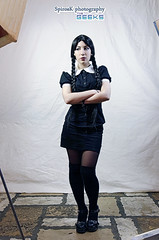 Eleanna as Addams Family Girl at Komix Cosplay Photoshooting (SpirosK photography (back!)) Tags: portrait girl movie costume cafe photoshoot cosplay athens greece addamsfamily costumeplay  komix eleanna  thegeeks  neoirakleio