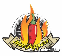 "Hot Peppers Cocktail Bar (Joserilde ""Joseload"" Jnior) Tags: hot pepper cocktail peppers vector logotipo logotype vetor logomarca coquetel"
