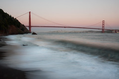 Golden Gate (Zack Mensinger) Tags: sanfrancisco beach pacific marin pacificocean goldengatebridge goldengate marincounty sanfranciscobay transamerica marinheadlands pacificcoast downtownsanfrancisco kirbycove goldengatenationalrecreationarea canon40d kirbycovecampground