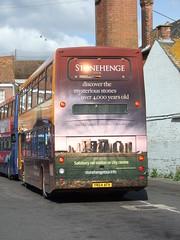 Wilts and Dorset 1001 YN54AFK in Salisbury  DSCF2049 (MrB Bus) Tags: salisbury 1001 wiltsanddorset yn54afk