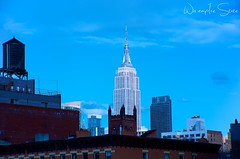 Empire from the highline (Wis Empire State) Tags: ocean show park street new old city nyc newyorkcity trip travel flowers blue autumn winter friends light sunset red sea summer vacation portrait sky people urban blackandwhite bw woman sun white house lake holiday snow newyork black france flower color macro tree green art fall love beach me nature water girl fashion yellow rock architecture night clouds vintage river garden square landscape geotagged fun photography photo spring model nikon europe raw day photos live squareformat