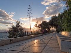Promenade (Non solo Ilva) (NIKOZAR (Nicola Zaratta)) Tags: sunset sky clouds marina italia tramonto mare olympus cielo lungomare puglia taranto italiy marea jonio margrande golfoditaranto tramontosulmare lungomaretaranto olympusxz1