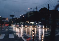 濡れたアスファルト (niine schon (41style)) Tags: film rain night 35mm natura 2007 夜 雨 フィルム