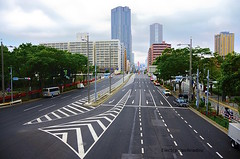 Harumi, Tokyo (Electra K. Vasileiadou) Tags: street architecture buildings tokyo nikon wideangle  nikkor  harumi   chuoku  18200mm d7000  gettyimagesjapan13q2 gettyimagesjapan13q3