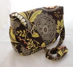 Crossbody or shoulder bag (Tracey Lipman) Tags: bag handmade fabric purse zipper messenger etsy pocket tracey shoulder handbag zip pocketbook adjustable lipman crossbody