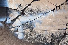 C'est tant de malheur... (Gerard Hermand) Tags: 1309061208 cassé brisé broken beige gerardhermand france paris eos5dmarkii abstract abstraction abstrait bleu blue glass mur verre wall canon