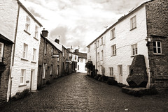 Dent, Yorkshire Dales UK (Snap Tin) Tags: street uk morning sepia early village sony yorkshire dent deserted dales cobblestoned