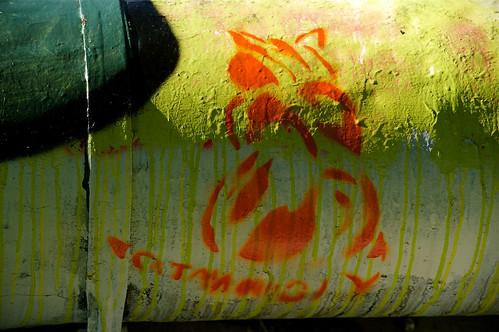 Tank detail orange & green