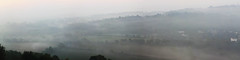 Project 52. Week 33 - Morning Mist (keithjherbert) Tags: uk autumn england panorama mist london fall nature canon north photomerge dorking brockham holmwood
